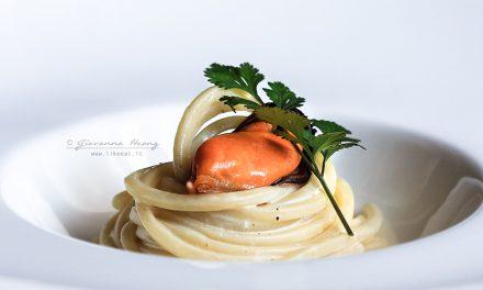 Spaghetto quadrato all'asiatica
