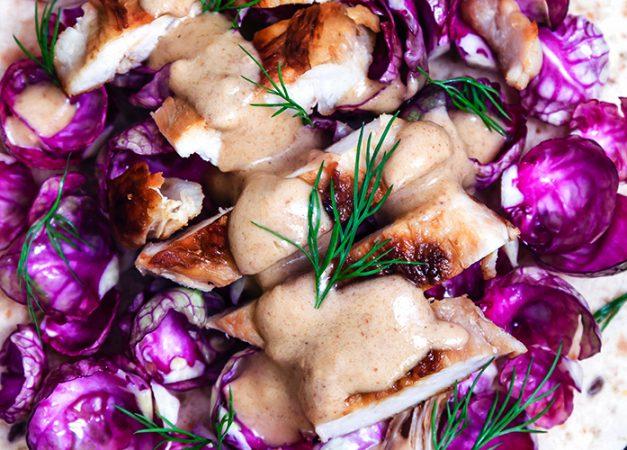 Tortillas di pollo con salsa satay