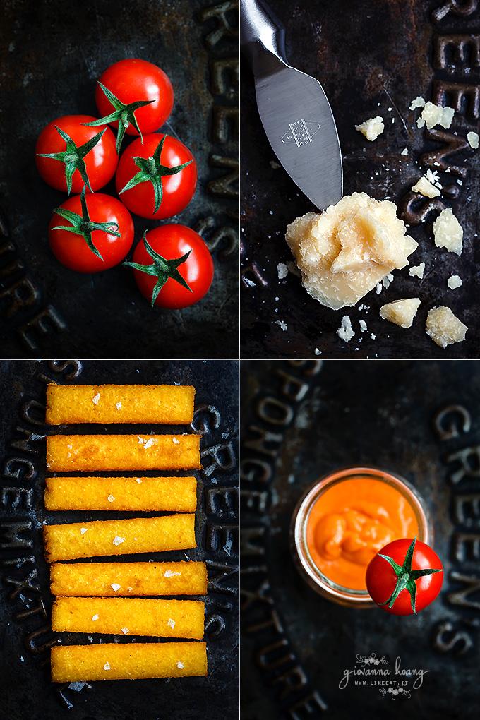 stick di polenta al Grana Padano con salsa di pomodorini arrostiti c3-680