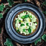 Crostatine di quinoa con zucchine e chantilly al curry