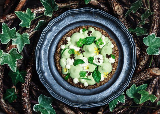 Crostatine di quinoa con zucchine e chantilly al curry