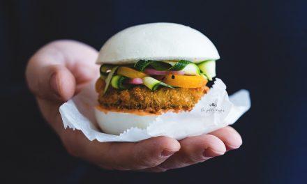 Bao burger con melanzana alla milanese