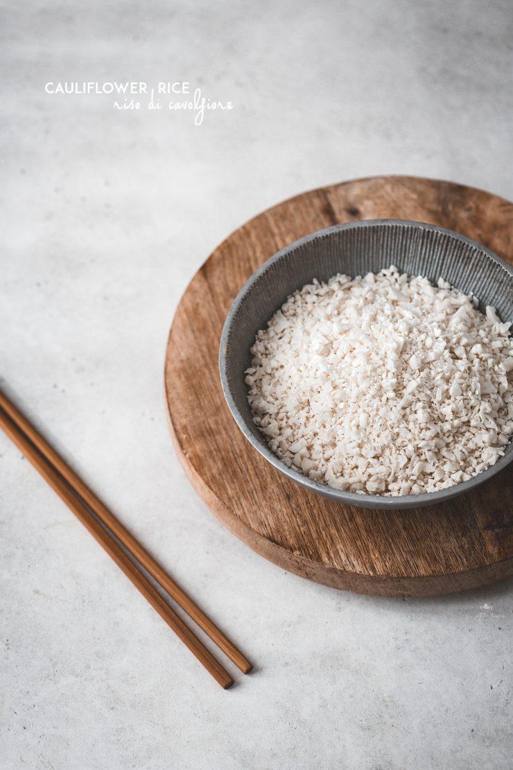 Riso di cavolfiore, couscous di cavolfiore, cauliflower rice