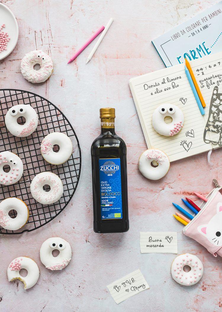 donuts al limone e olio di oliva bio