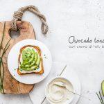 Avocado toast con crema di tofu bio