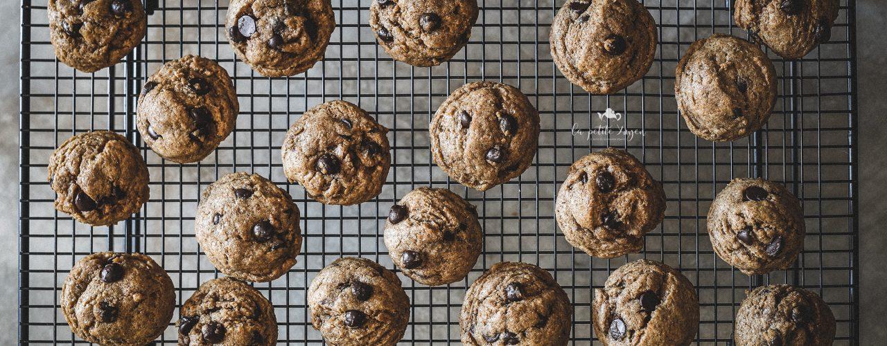 cookies integrali al cioccolato e caffè