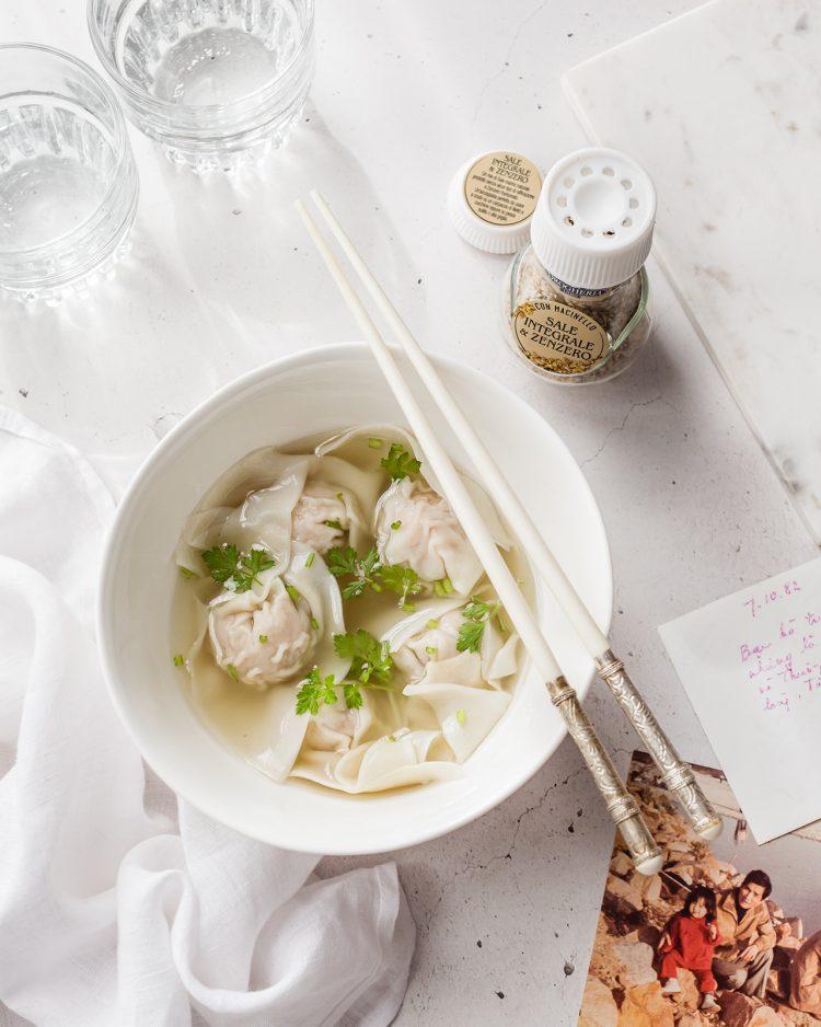 wontoun soup di gamberi e maiale