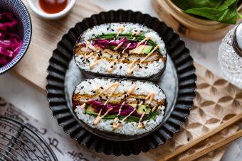 onigirazu con cotoletta impanata