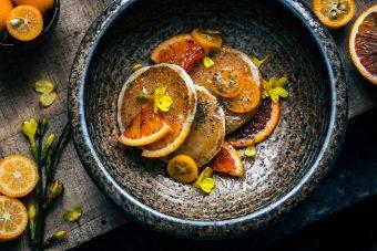pancake all'arancia e kumquat