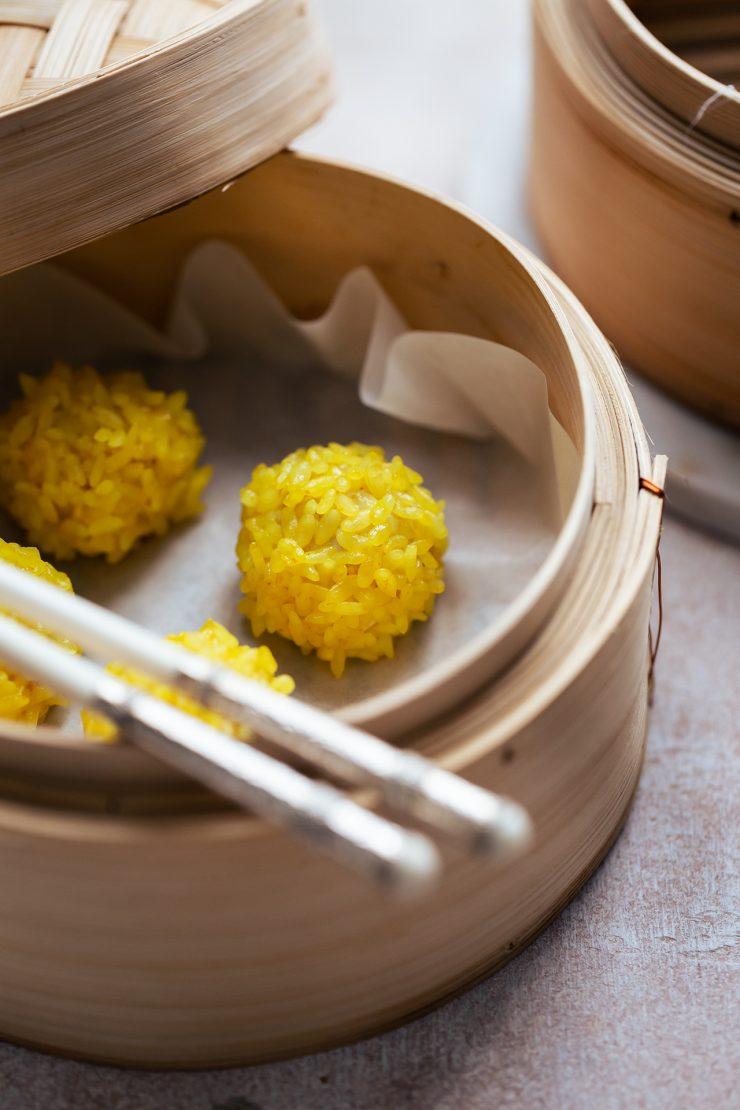 polpette cinesi di maiale e riso
