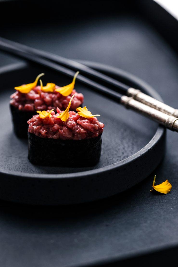 wagyu gunkan sushi di carnee